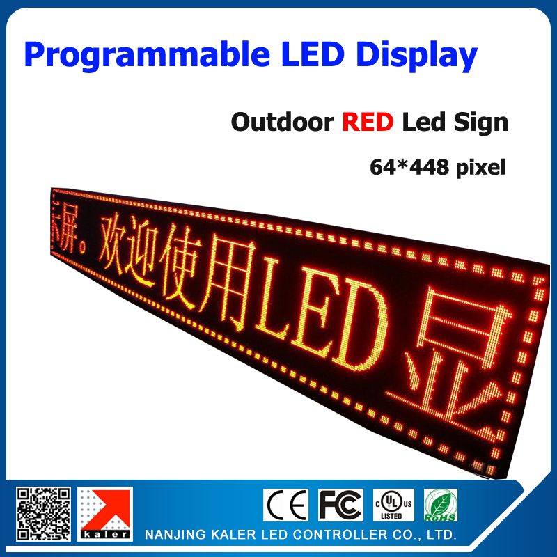 RED Color P10 Outdoor LED Sign Board Waterproof Programmable Display Scrolling Message Advertising Business Sign for Hotel BankRED Color P10 Outdoor LED Sign Board Waterproof Programmable Display Scrolling Message Advertising Business Sign for Hotel Bank