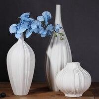 Белый чеснок формы керамические вазы Цветочные украшения домашнего интерьера гостиной современный минималистский украшения ремесла
