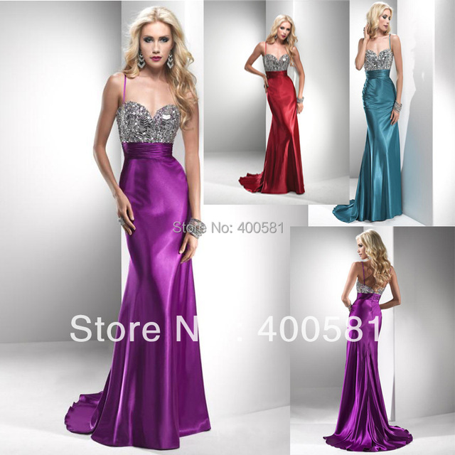 Teal Fitted Long Evening Dresses