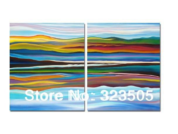 Abstract Wall Art Canvas aliexpress : buy 2 piece abstract wall art canvas beach