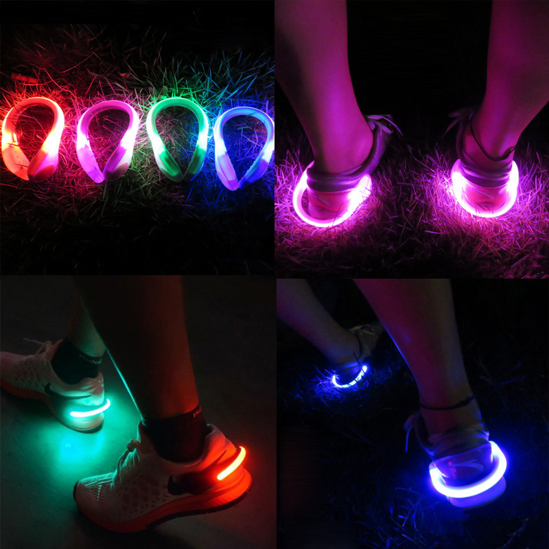 Novelty LED Luminous Shoe Clip Light  Safety Warning LED Lights Night Running Light Shoes Bike Warning Lights Outdoor Sports