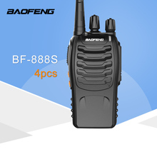 4 PCS Baofeng BF 888S Walkie Talkie 5W Handheld Pofung  UHF 5W 400-470MHz 16CH Two way Portable CB Radio wecan kc m3 ultra thin ultra clear 400 470mhz 20 channel walkie talkie silver blue 2 pcs