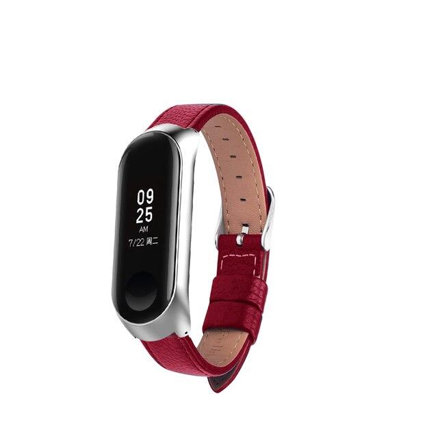 Bracelet for Xiaomi Mi Band 6 5 4 leather Strap Replacement Wristband MiBand 6 4 band5 Wrist Strap for xiaomi Mi Band 4 3 strap 4