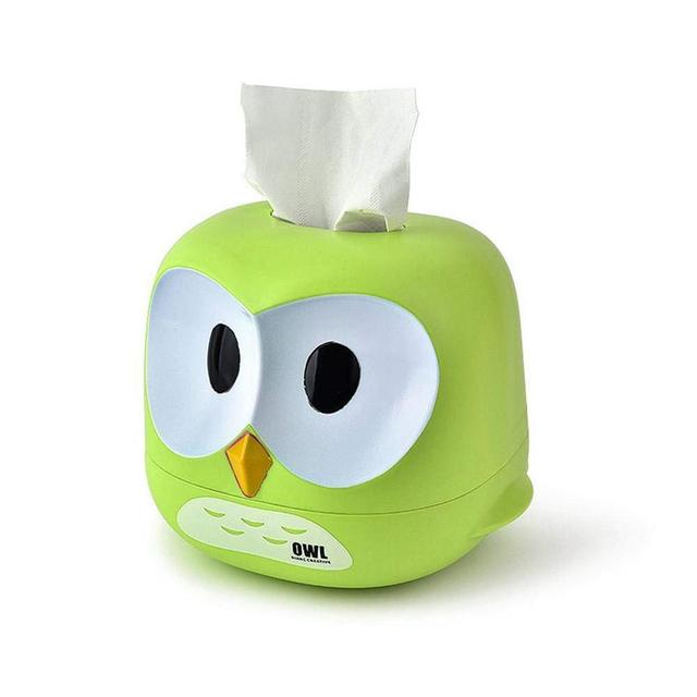 Owl Tissue Box Restaurant Table Plastic Facial Paper Roll Paper Storage Box