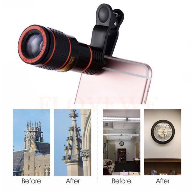 12x Зум Телеобъектив Телескоп Телефон Объектива Камеры Для iPhone Xiaomi Sony Samsung S3 S4 S5 S6 S7 края примечание 2 3 4 5 7 J3 A7 A8