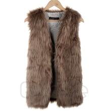Women Faux Fur Gilet Body Winter Short Vests Sleeveless Jacket Waistcoat Coats