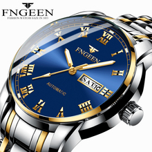 Мужские часы люксовый бренд FNGEEN наручные часы для мужчин часы Дата Неделя дисплей светящиеся кварцевые часы мужские часы Relogio Masculino