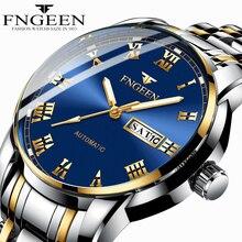 Men's Watch Luxury Brand FNGEEN Wrist Watches for Men Clock Date Week Display Lu