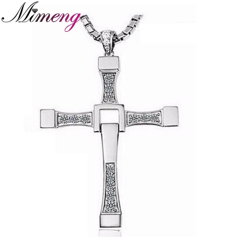 925 Sterling Silver Free shipping men & women jewelry gifts The Fast and the Furious Toretto cross necklace 100% high quality the fast and the furious celebrity vin diesel item crystal jesus cross pendant necklace for men gift jewelry