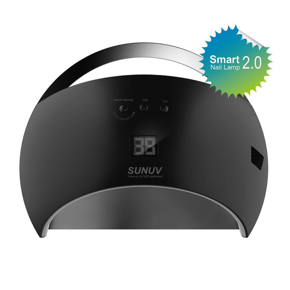 SUNUV SUN6 Smart Lamp Nail LED UV Lamp Dryer Metal Bottom LCD Timer Multicolors for Curing