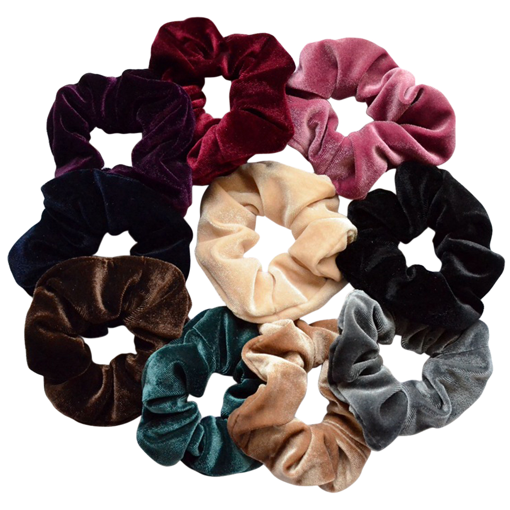 10 Pcs Hair Scrunchies Velvet Hairband Ponytail Holder Tie Bow for Women Tie Ropes Adult Elastic Girls Hair Ties Gum Accessories
