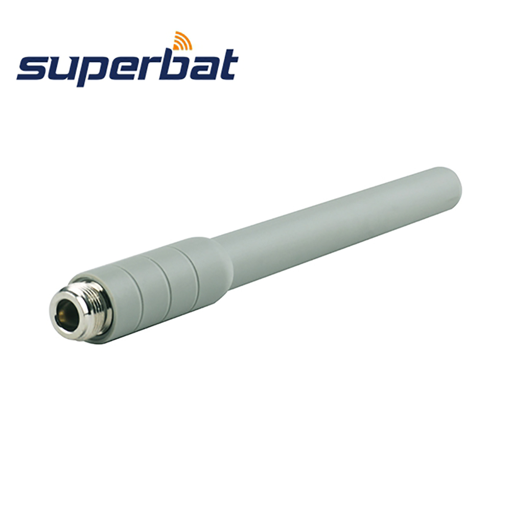Superbat Wifi Antenna 5GHz 5dBi Indoor Omni-directional Rubber Aerial N Female Jack Connector Indoor Booster White Color