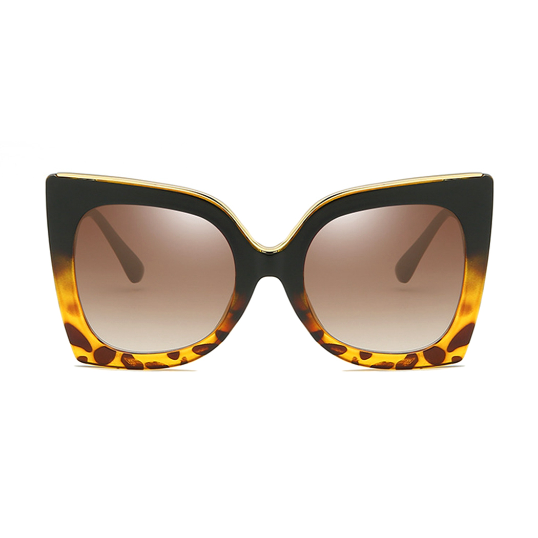 Large Designer Square Butterfly Tinted Lens Gradient Sunglasses UV400