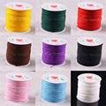 1MM Nylon Blue Pink Black White Purple Red Brown Green Gold Beading Cord 100M 1Pcs N031-N039