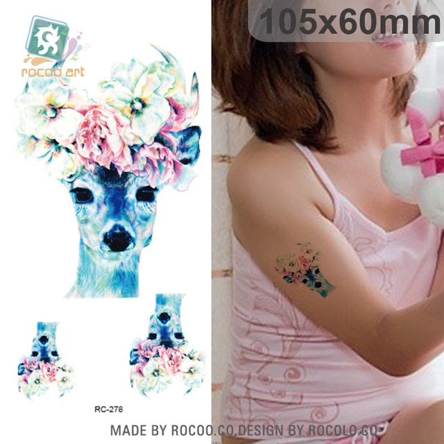 aliexpress: acheter rc 278/belle femelle cerf avec fleur de