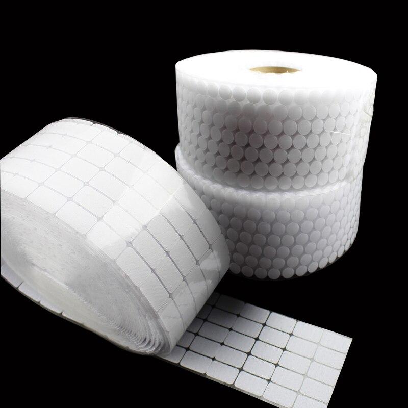 100 пар белый двойной клей на крючки и самостоятельно стикеры s стойкие стикеры Sticky нейлон водостойкий крепеж материалы