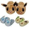 Cartoon 28cm Eevee Glacia Leafeon Plush Indoor Adult Children Winter Slippers Stuffed Plush Toys Kawaii Animals Anime Slippers