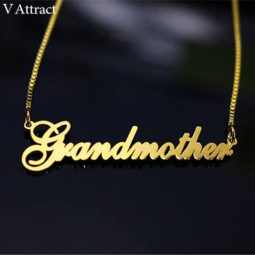 Gold Filled Long Box Chain Custom Name Choker Necklace Women Men Personalized Bridesmaid Christmas Gift Nameplate Collar Mujer