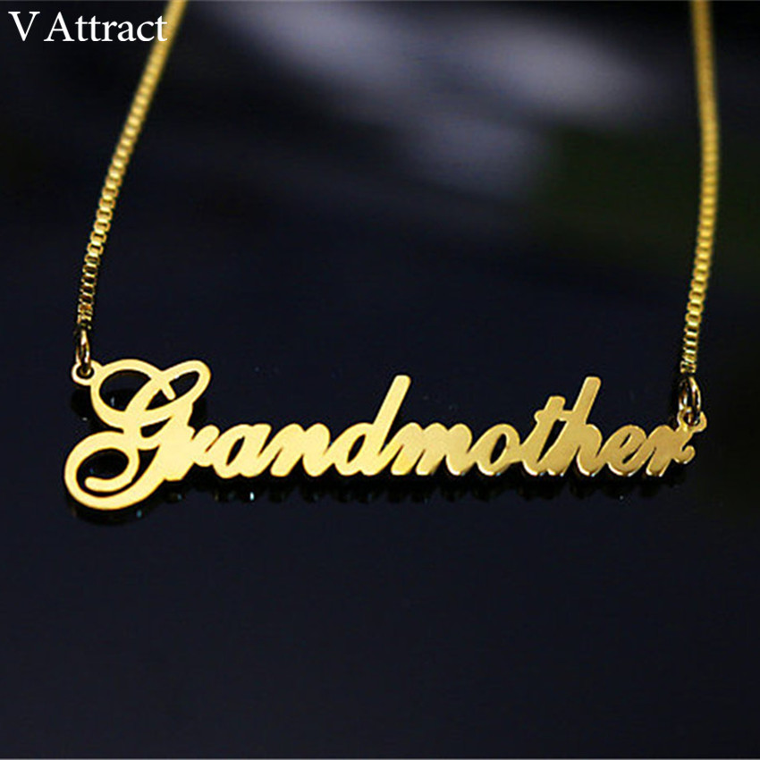 Us 9 99 31 Off Aliexpress Com Buy Gold Filled Long Box Chain Custom Name Choker Necklace Women Men Personalized Bridesmaid Christmas Gift