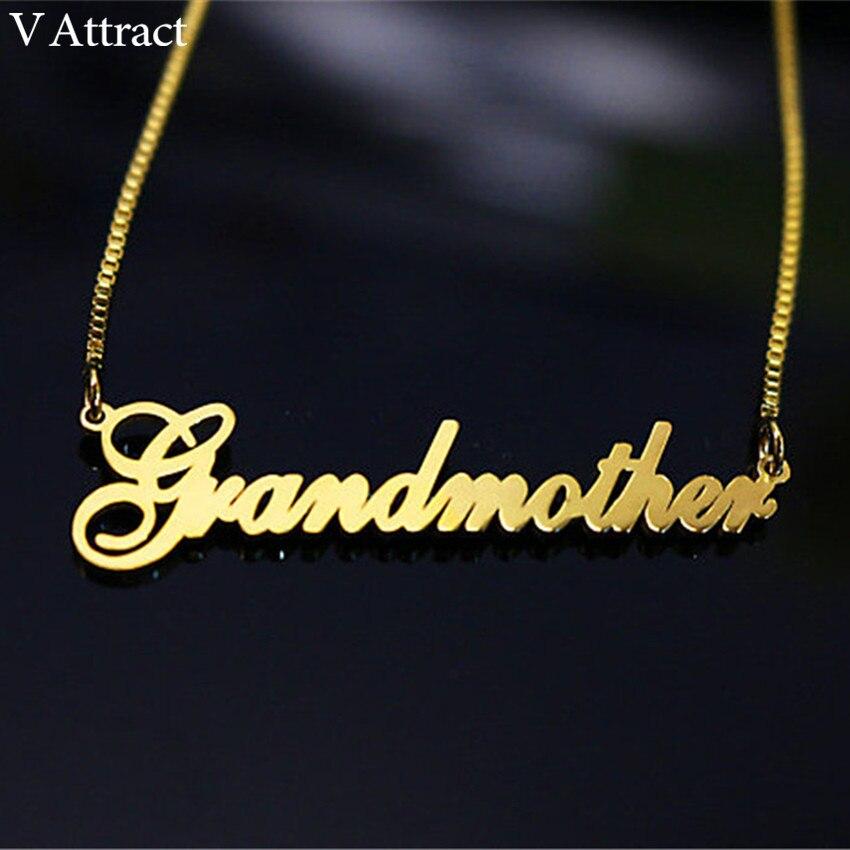 Lleno de oro caja larga cadena de nombre gargantilla Collar de las mujeres de los hombres personalizados de dama de honor regalo de Navidad placa Collar Mujer