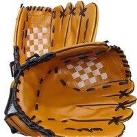 Portable Baseball Gloves Durable Men 1 0 5 Inch Softball Baseball Glove Black Brown Wholesale
