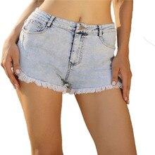 2019 новое поступление случайные летние джинсовые женские шорты с высокой талией на меховой подкладк