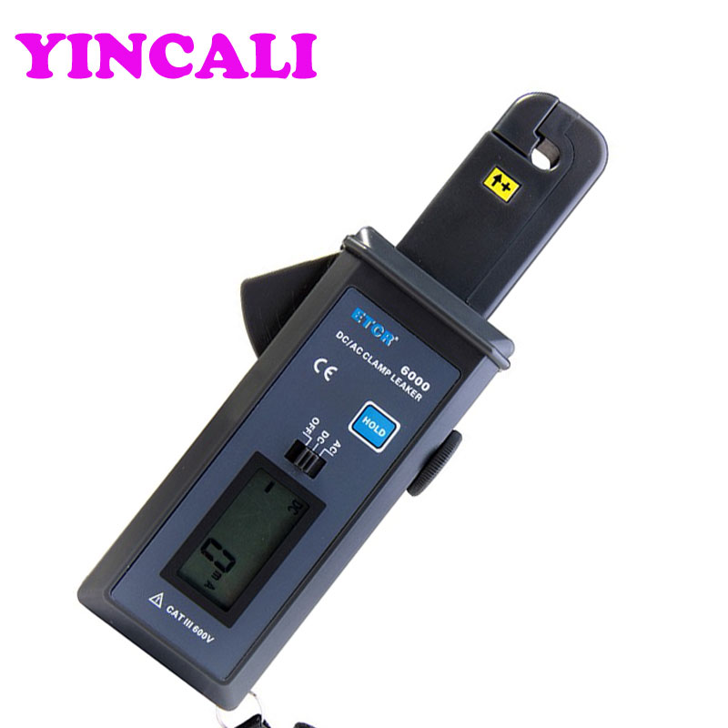 Fast Shipping AC/DC Clamp Leakage Current Meter ETCR6000 Data Memory 99 units Digital Clamp Meter Measuring 0mA-60.0A