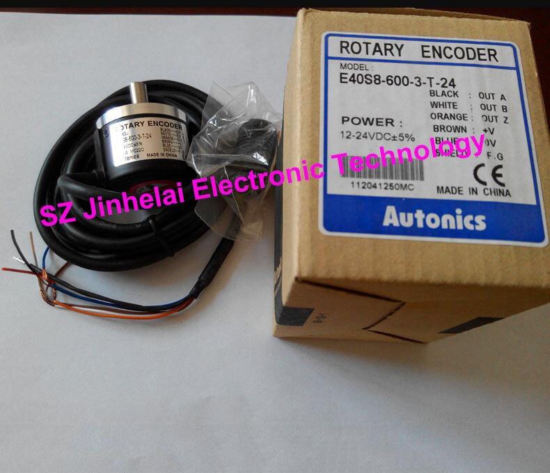 New and original AUTONICS E40S8-600-3-T-24 ENCODER 12-24VDC new and original e6b2 cwz6c 2000p r omron rotary encoder 5 24vdc