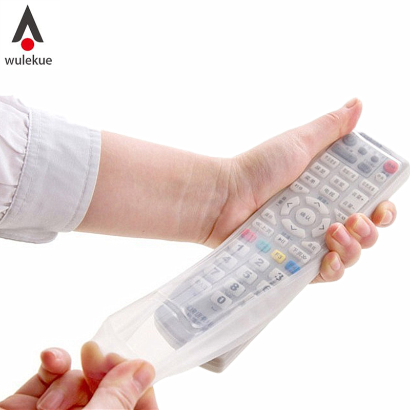 Wulekue Store 1PCS Silicone Protective Case Cover Skin For TV Remote Control Dust Cover Holder Home Item Gear Stuff Accessories Supplies