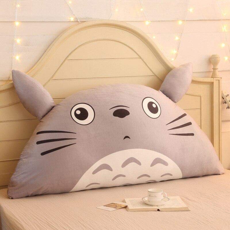 Ev ve Bahçe'ten Minder'de Karikatür Totoro Pamuk Keten Arkalığı Yastık Kanepe Yastıkları Için Yatak dinlenme yastığı Sırt Desteği Büyük Boy Yastık'da  Grup 1