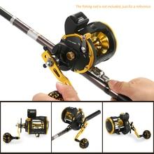 цена на 6+1 Ball Bearing Fishing Trolling Reel with Line Counter Alarm Bell Drum Reel Fish Vessel Plate Bait Casting Wheel De Pesca