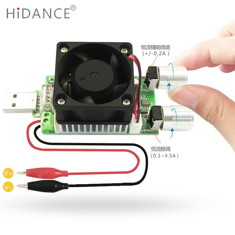 35 W USB DC resistencia de carga electrónica industrial ajustable corriente cons