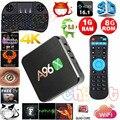 2016 Más Reciente A96X 1 GB/8 GB Amlogic S905X Android 6.0 TV Box Quard Core 2.4G Wifi Miracast Media Player Set Top Box Completo Cargado