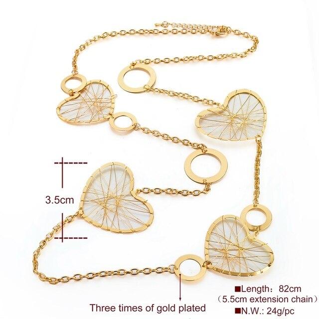 Chicvie винтажное золотое ожерелье в форме сердца для женщин