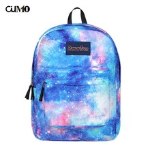 Ou Mo brand feminina backpack Mini Bag Women man laptop anti theft Starry sky Print middle School student Schoolbag