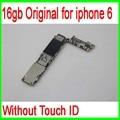 16 ГБ Оригинальный Разблокирована для iphone 6 Материнская Плата без Touch ID Функция, для iphone 6 Материнская Плата, Хорошее Качество & Бесплатная Доставка