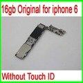 16 gb original desbloqueado para iphone 6 motherboard sem função touch id, para iphone 6 mainboard, boa qualidade & frete grátis