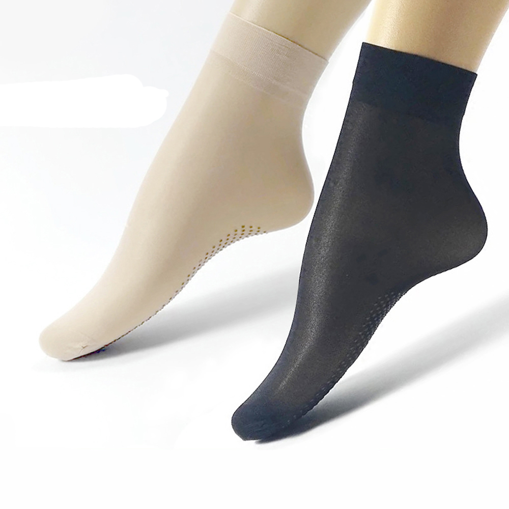 MEILEIYA 10 Pairs / Bag Women's Socks High Quality Harajuku Candy Color Silicone Socks Sexy Dot Ladies Sweet Anti-Slip Art Socks