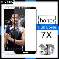 Per Huawei honor 7x di vetro temperato protezione dello schermo su huawey honer honnor 7 x X7 copertura completa honor 7x glas di protezione vetro pellicola