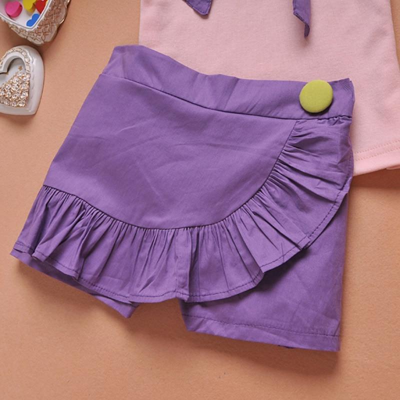 4fa85e877 € 8.92 |2016 ropa niñas bebés establece flores de verano de algodón chaleco  + falda Shorts Outfit niños ropa para niños ropa traje en set de ...