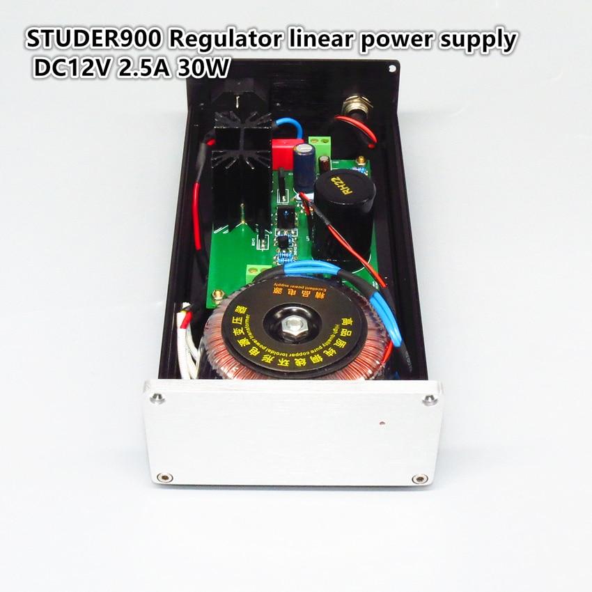 STUDER900 регулятор Линейный источник питания DC12V 2.5A 30 Вт DAC-аудиодекодер Профессиональный Мощность адаптер