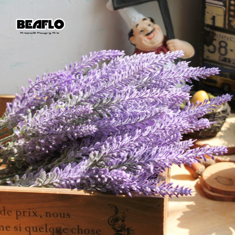 Romantic Provence Lavender Flower Silk Artificial Flowers plants Fake Artificiales Flores Wedding Home Garden Table Decoration fake rose flowers