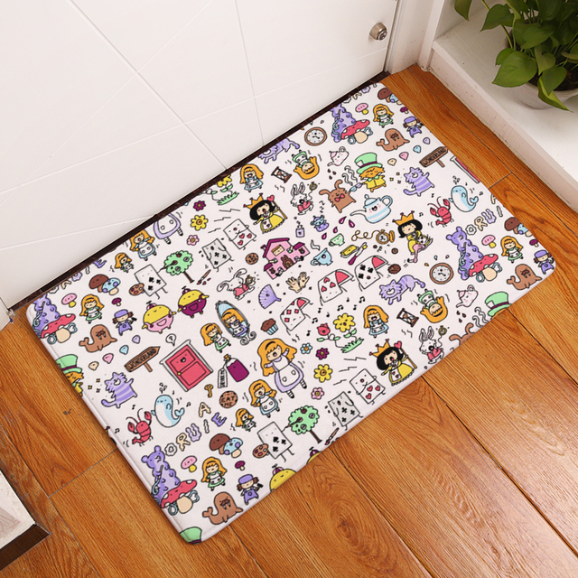cute kitchen rugs organizer ideas 2017 new cartoon print carpets non slip for home living room floor