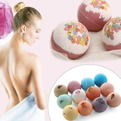 60g 12 piezas de baño de bolas de sal jabón hecho a mano bomba de burbujas orgánica Natural Bola de sal hidratante aceite esencial baño de burbujas