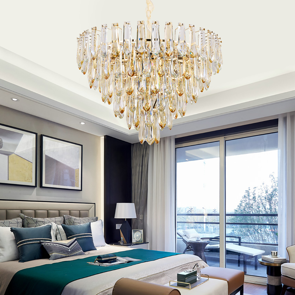 Luxury Modern Led Crystal Chandelier Lighting Lamps In The