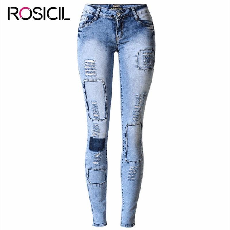 New Style Skinny Elasticity Jeans  Ripped Low Waist Stretch True Denim Jeans Denim Pencil Pants Lady Fashionable Jeans Female