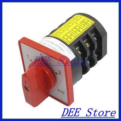 AC 380V 20A 12 Screw Terminals Lock 3 Position Cam Combination Changeover Switch