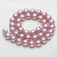 Free Shipping 2016 New 100 8 10mm Natural Real Pearl Necklace Set Good Quality Necklace For