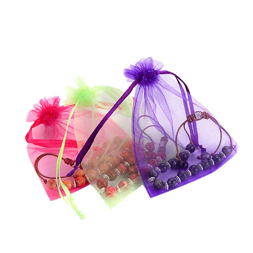 Storage Bag Jewelry Organza Packaging Bags Wedding Party Decorations Organize Bags 18MAR05
