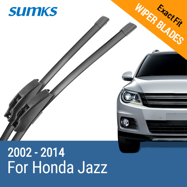 Aliexpresscom Buy Sumks Wiper Blades For Honda Jazz Fit Hook Arms
